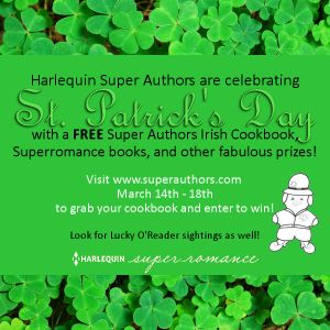 Super Authors St_ Patrick's Day Button